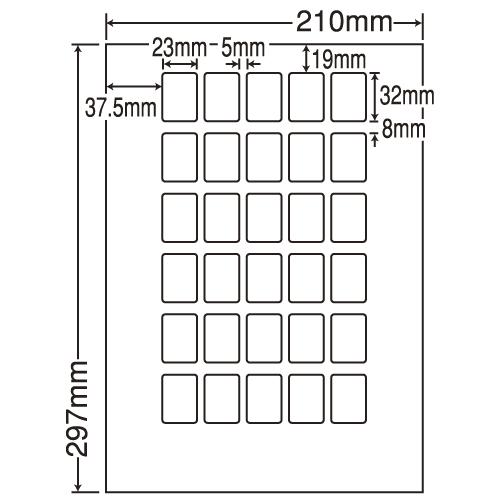 東洋印刷 ラベルシール nana 再剥離タイプ A4 500シート LDW30PBF: