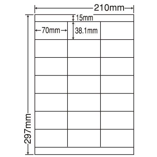東洋印刷 ラベルシール nana カラーインクジェット用 A4 500シート LDZ21QCX: