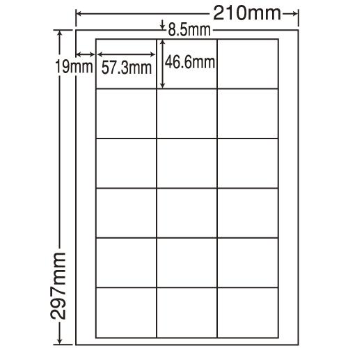 東洋印刷 ラベルシール nana 再剥離タイプ A4 500シート LDW18UF: