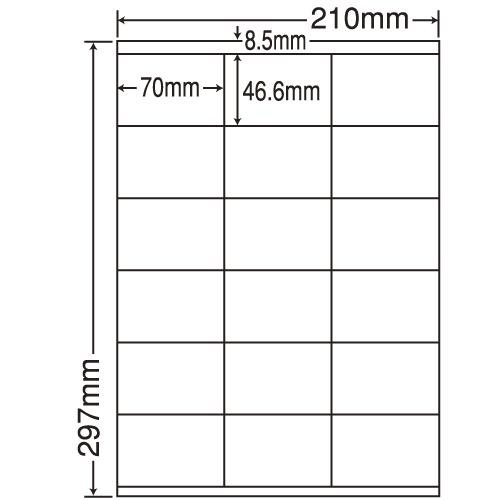 東洋印刷 ラベルシール nana 再剥離タイプ A4 500シート LDZ18UF: