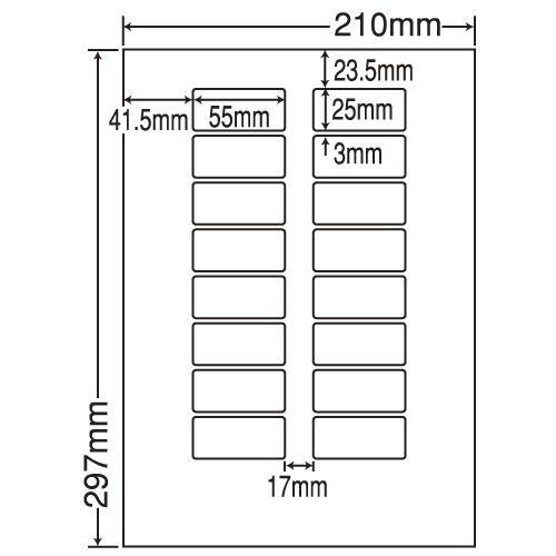 東洋印刷 ラベルシール nana 再剥離タイプ A4 500シート LDW16UEF: