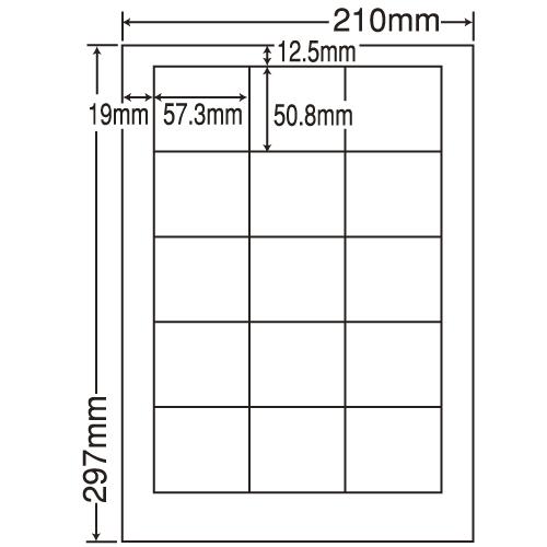 東洋印刷 ラベルシール nana 再剥離タイプ A4 500シート LDW15MF: