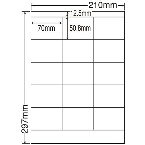東洋印刷 ラベルシール nana 再剥離タイプ A4 500シート LDZ15MF: