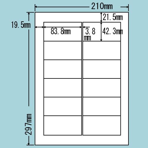 東洋印刷 ラベルシール nana カラーインクジェット用 A4 500シート LDW12PGX: