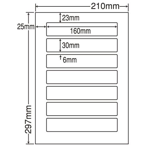 東洋印刷 ラベルシール nana 再剥離タイプ A4 500シート LDW7QF: