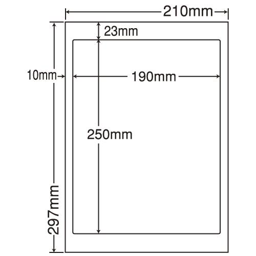 東洋印刷 ラベルシール nana 汎用タイプ A4 500シート LDW1Z: