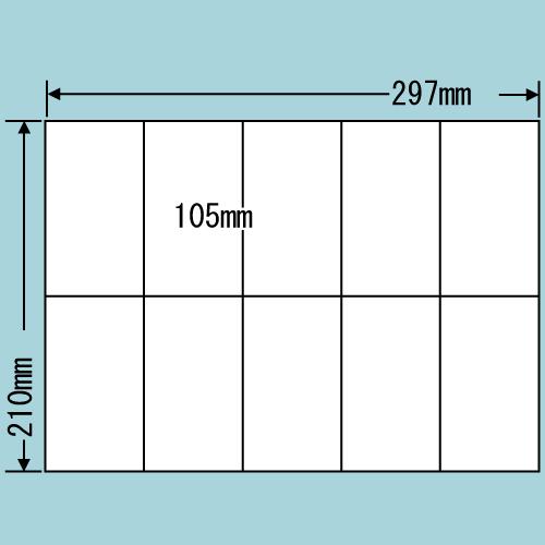 東洋印刷 ラベルシール nana 再剥離タイプ A4 100シート×5 C10MF: