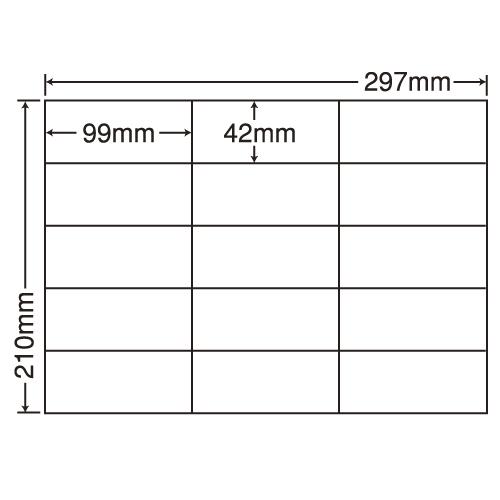 東洋印刷 ラベルシール nana 再剥離タイプ A4 100シート×5 C15GF: