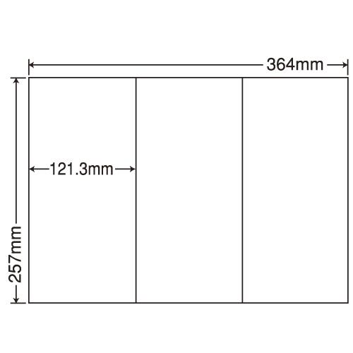 東洋印刷 ラベルシール nana 再剥離タイプ B4 100シート×5 E3GF: