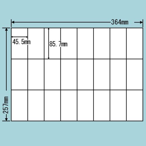 東洋印刷 ラベルシール nana 再剥離タイプ B4 100シート×5 E24UF: