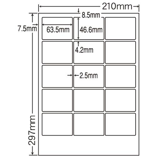 東洋印刷 カラーレーザー用フィルムラベル nana A4 100シート FCL-3:
