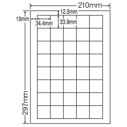 東洋印刷 カラーレーザー用フィルムラベル nana A4 100シート FCL-15: