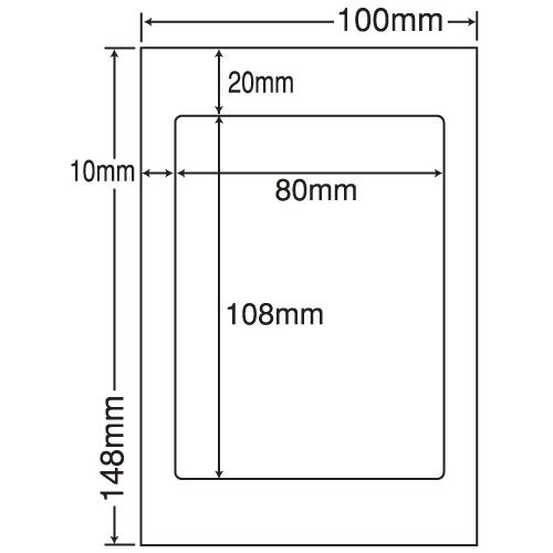 東洋印刷 カラーインクジェット用光沢ラベル nana はがき 100シート SCJH6(L):