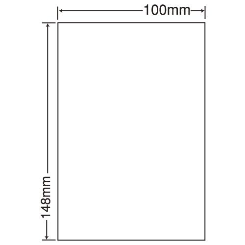 東洋印刷 カラーインクジェット用光沢ラベル nana はがき 100シート SCJH7(L):