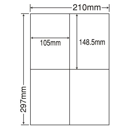 東洋印刷 ラベルシール nana レーザープリンタ訂正用 A4 500シート CLT-4: