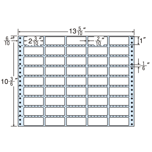 東洋印刷 タックシール nana 再剥離タイプ (連続ラベル) 500折 RT13X: