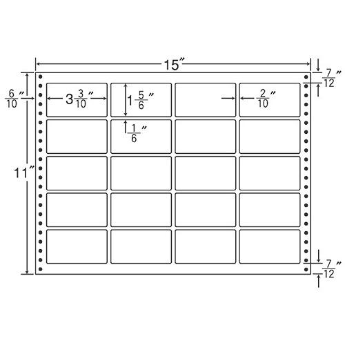 東洋印刷 タックシール nana 耐熱タイプ (連続ラベル) 500折 LT15X: