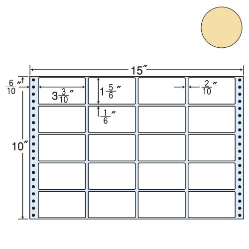 東洋印刷 タックシール nana カラータイプ (連続ラベル) ベージュ 500折 M15EH: