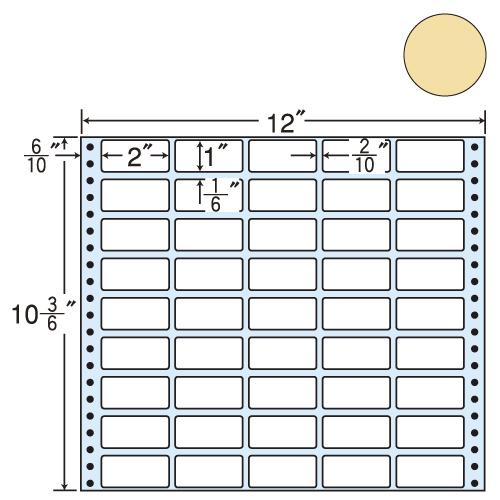 東洋印刷 タックシール nana カラータイプ (連続ラベル) ベージュ 500折 M12CH: