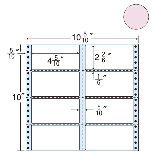 東洋印刷 タックシール nana カラータイプ (連続ラベル) ピンク 500折 M10CPP: