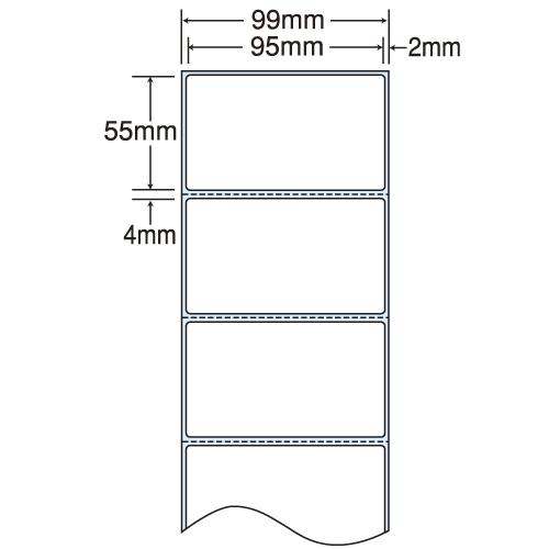 東洋印刷 nana 感熱ロールラベルシール(医療機関向け) 99mm 4巻 THR-3G: