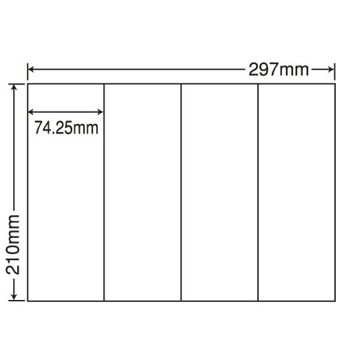 東洋印刷 ラベルシール nana 汎用タイプ A4 100シート×5 C4S: