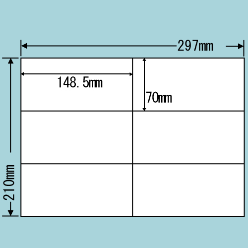 東洋印刷 ラベルシール nana 汎用タイプ A4 500シート C6i: