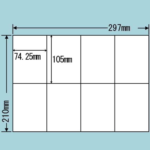 東洋印刷 ラベルシール nana 汎用タイプ A4 500シート C8S: