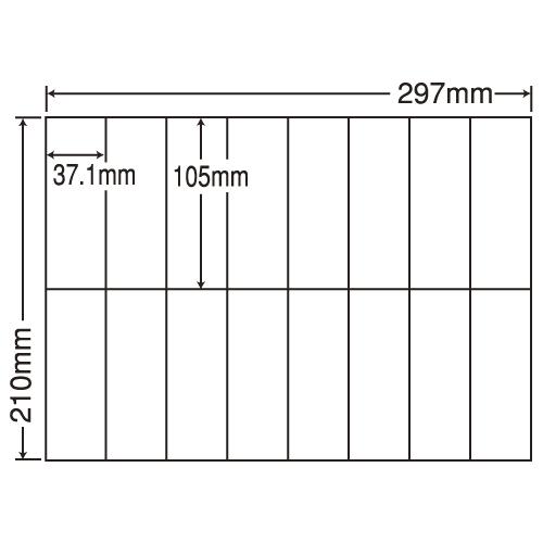 東洋印刷 ラベルシール nana 汎用タイプ A4 100シート×5 C16U: