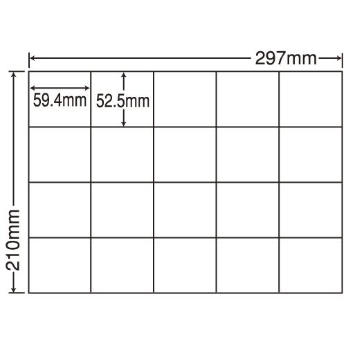 東洋印刷 ラベルシール nana 汎用タイプ A4 100シート×5 C20M: