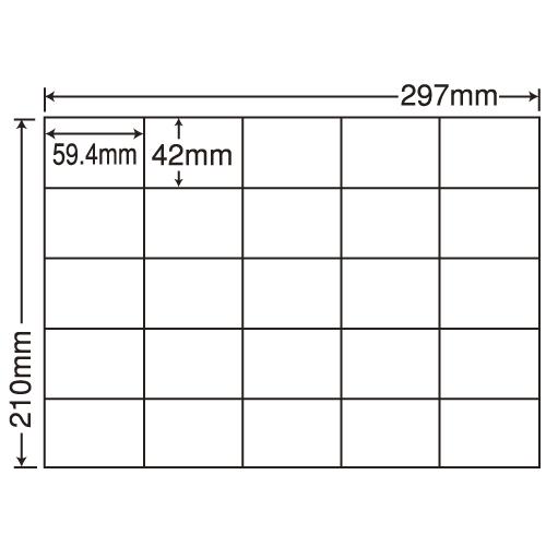 東洋印刷 ラベルシール nana 汎用タイプ A4 100シート×5 C25M: