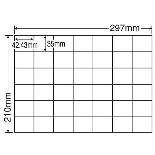 東洋印刷 ラベルシール nana 汎用タイプ A4 100シート×5 C42Q: