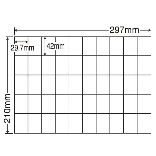 東洋印刷 ラベルシール nana 汎用タイプ A4 100シート×5 C50B: