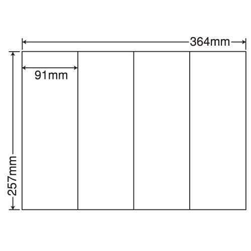 東洋印刷 ラベルシール nana 汎用タイプ B4 100シート×5 E4S: