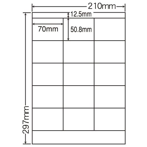 東洋印刷 ラベルシール nana カラーレーザー用光沢 A4 80シート SCL-13: