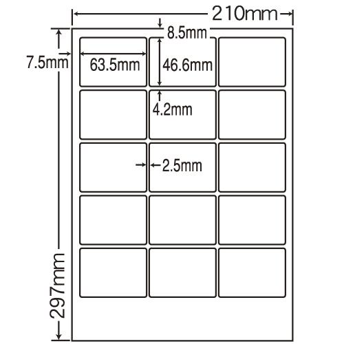 東洋印刷 レーザープリンタ用ラベル nana 光沢紙タイプ A4 400シート SCL-3: