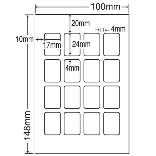 東洋印刷 カラーインクジェット用光沢ラベル nana はがき 100シート SCJH1(L):