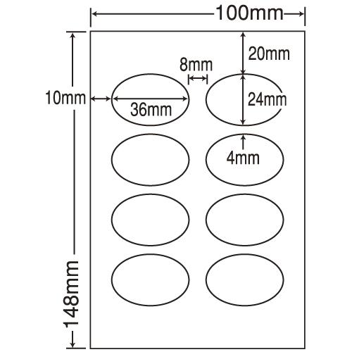 東洋印刷 カラーインクジェット用光沢ラベル nana はがき 100シート SCJH5(L):