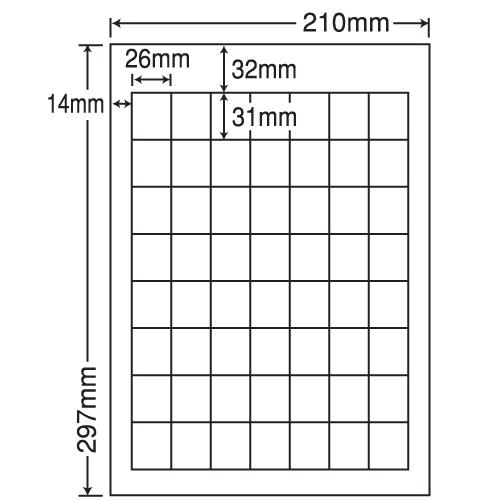 東洋印刷 ラベルシール nana カラーインクジェット用光沢 A4 80シート SCJ-36: