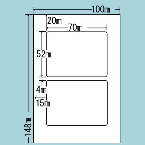 東洋印刷 カラーインクジェット用光沢ラベル nana はがき 100シート SCJH3(L):