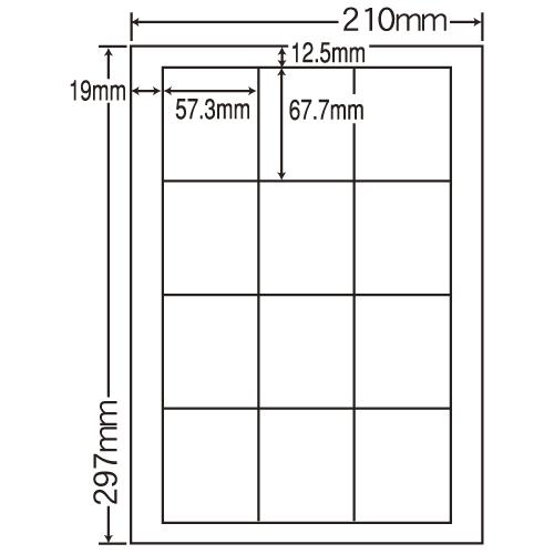 東洋印刷 レーザープリンタ用ラベル nana 光沢紙タイプ A4 80シート SCL-9: