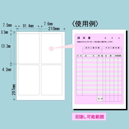 東洋印刷 目隠しラベル nana ハガキ全面タイプ A4 250シート PCL-1: