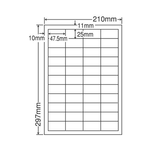 東洋印刷 ラベルシール nana 耐水・耐温度タイプ カラーレーザー用 A4 100シート FCL-32: