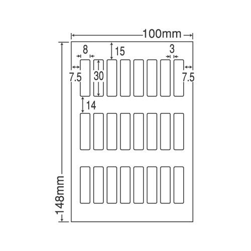 東洋印刷 ラベルシール nana 光沢タイプ カラーインクジェット用 はがき 200シート SCJH18F: