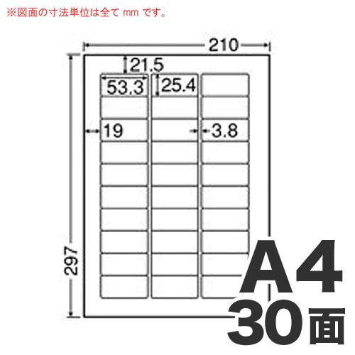 東洋印刷 マルチラベル ワールドプライスラベル A4 500シート WP03001: