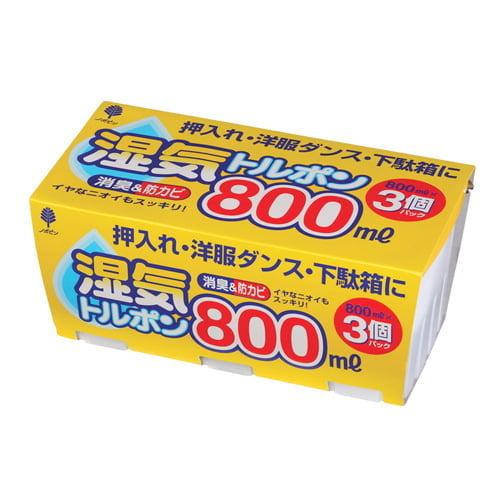除湿剤 湿気トルポン 大容量 800ml×3個パック: