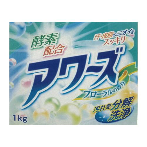 洗濯洗剤 粉末 アワーズ 酵素配合 フローラル 1kg:
