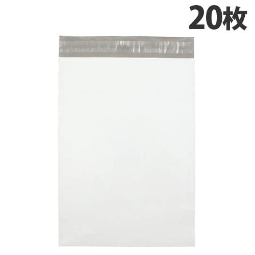 カクケイ 宅配用ポリ封筒 L テープ付 20枚 TH3218: