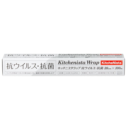 昭和電工 キッチニスタラップ 抗ウイルス・抗菌 30cm×100m: