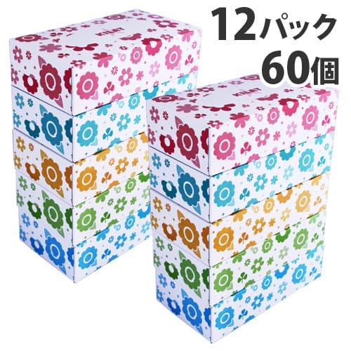 【日本製】ボックスティッシュペーパー 150組 12パック(60個)